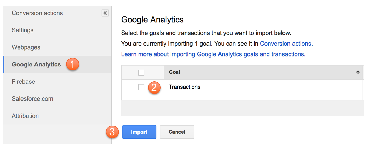 Import Transactions To AdWords